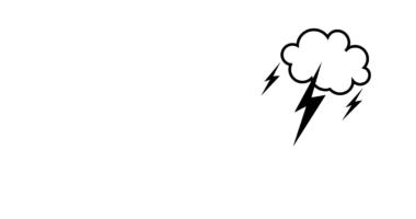 Lightning Weather Border Paper