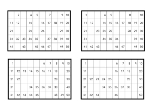 Missing Numbers Hundred Square Activitiy-2