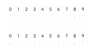 Number Digit Practise 0-9