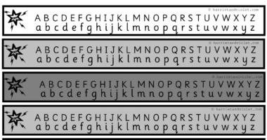 Alphabet Chart A-Z Superhero