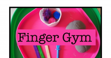 Malleable // Finger Gym // Play Dough // Expressive Arts Area Sign