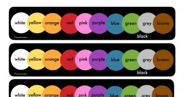 Colour name chart   Colour Strip