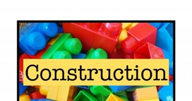 Construction // Building // Bricks Area Sign