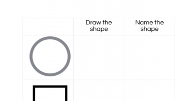 Draw and name a 2D shape