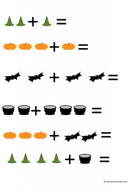 Common Worksheets » Halloween Counting - Preschool and ...