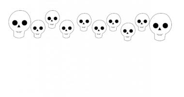 Halloween Skeleton Border Paper