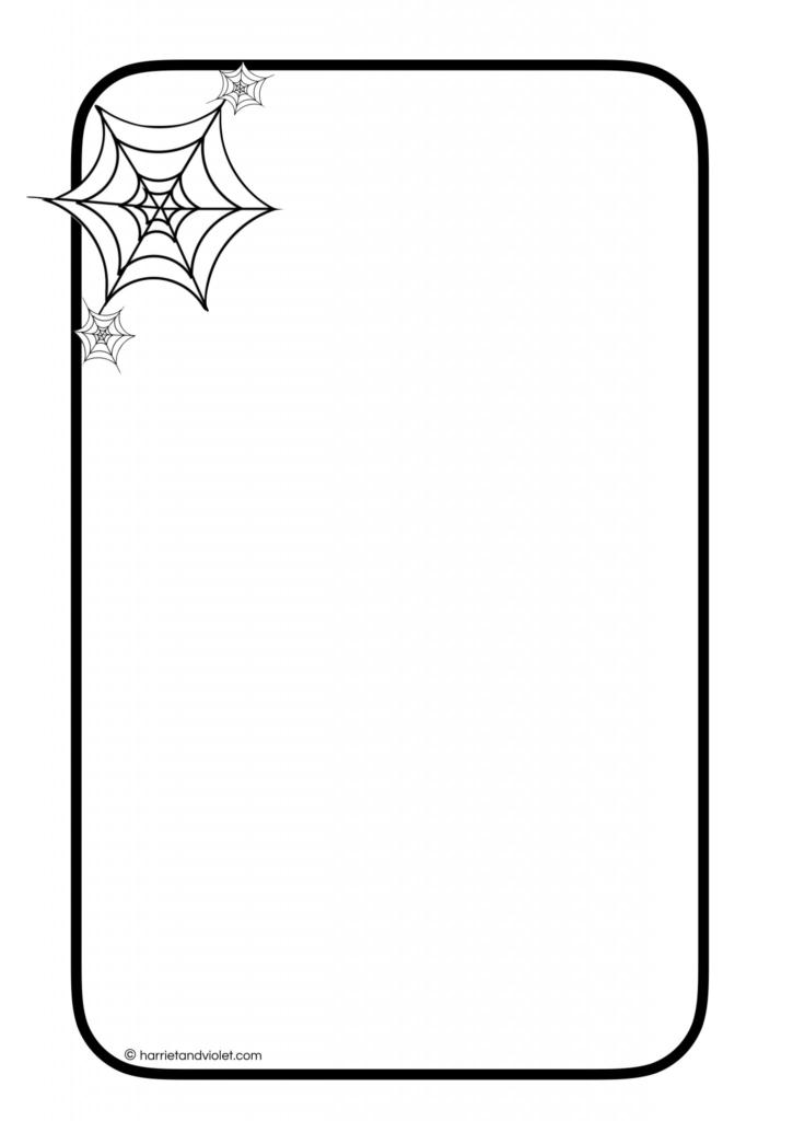 halloween cobweb border paper