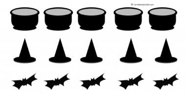 Halloween small pictures to print, cut, stick or count