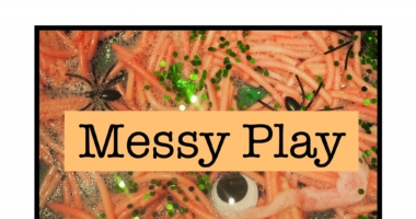 Messy Play // Halloween Area Sign