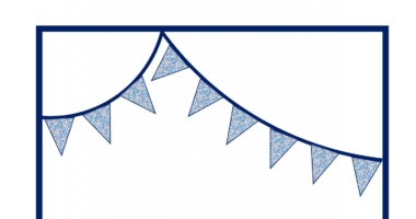 Bunting Border Paper – liberty pattern