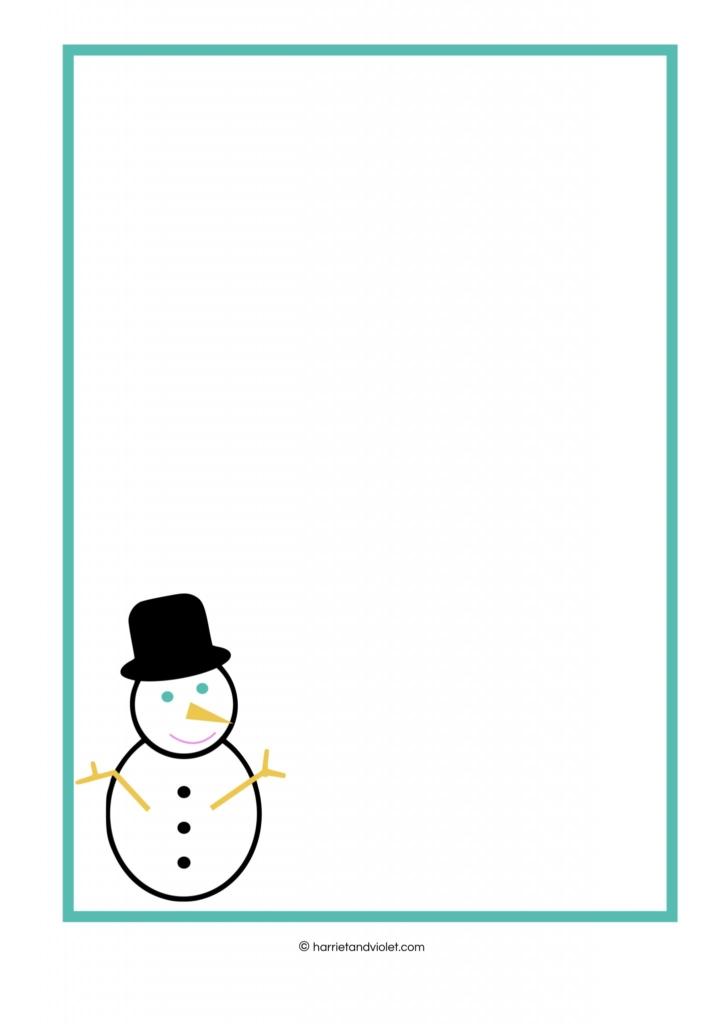 snowman christmas border paper