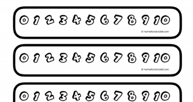 Colour your own number line 0-10