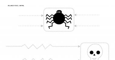 Halloween pencil control practise