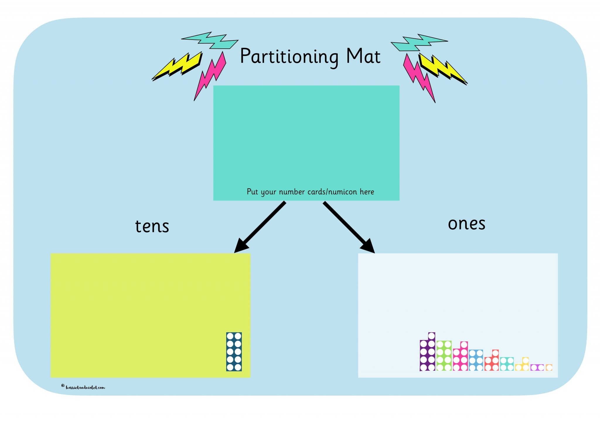 Partitioning Mat Tens And Ones Free Teaching Resources