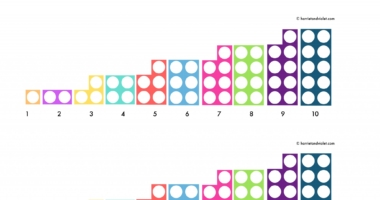 Numicon style number line 0-10