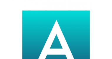 A-Z capital letters blue