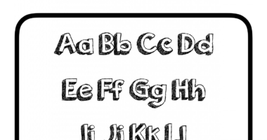 Colour your own alphabet capital and lower case letters