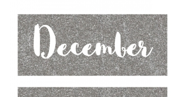 Days of the week & months of the year labels – glitter style