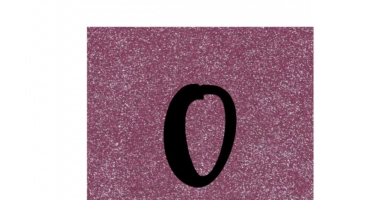 Pink glitter style numbers 0-30