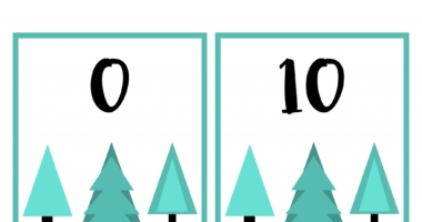 Tree Number Posters or flashcards counting 0-150 in 10s
