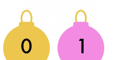 Christmas Baubles Numberline 0-30