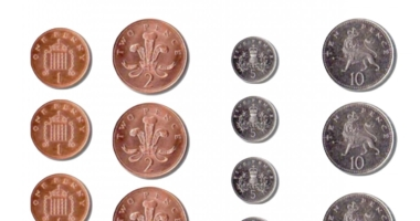 Printable coins for games, counting