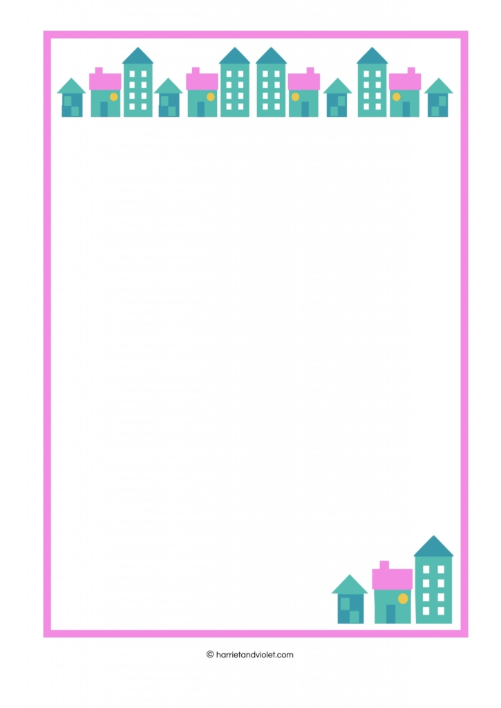 House U2013 Border Paper Plain, Lined And Half Lined  Lined Border Paper