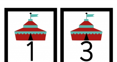 Odd Number cards 1 to 51 – Circus