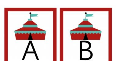 Alphabet Circus Tent A-Z