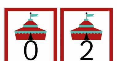 Even number cards – 0-50 Circus