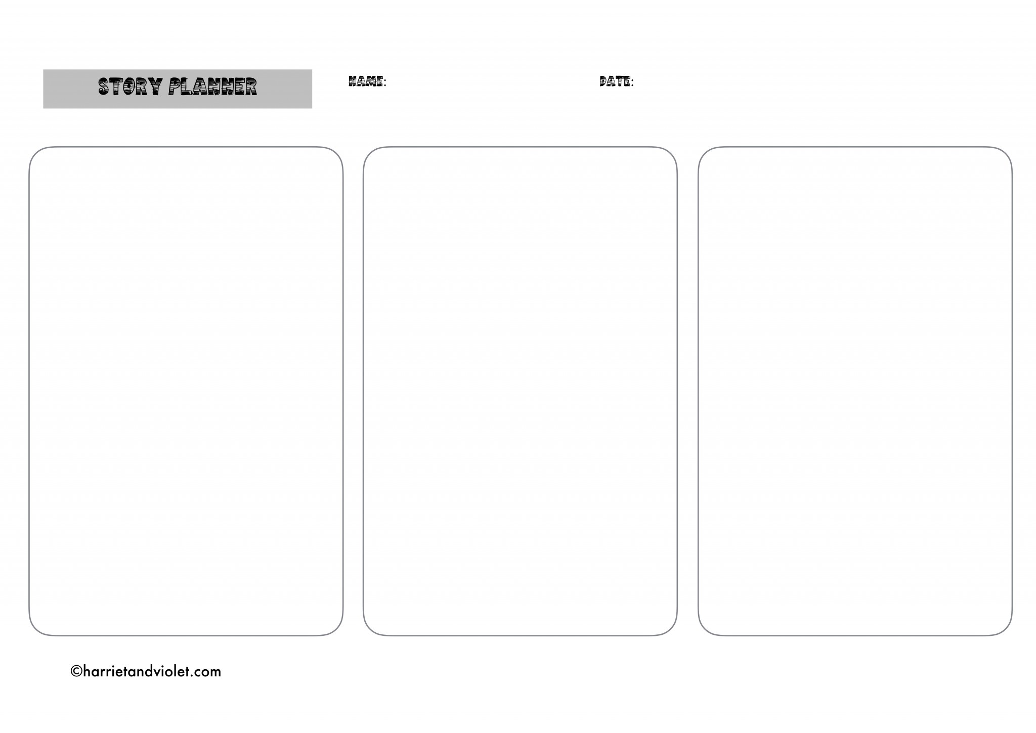 Story planning template free teaching resources for Story planner free