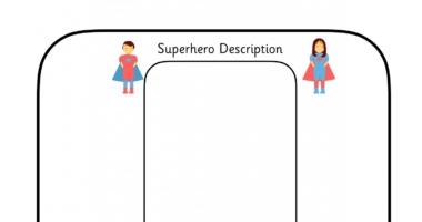 Superhero character description sheets