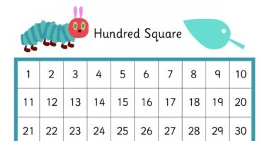 Caterpillar – Hundred Square (minibeast)