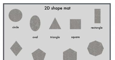 2D shape mat – glitter