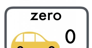 Car – numbers and words 0-10 Zero-ten