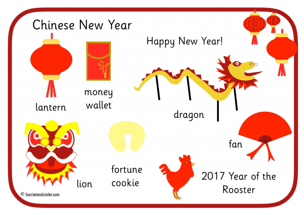 Happy New Year on Chinese Style Lantern - Free Teaching ...