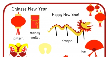Chinese New Year – word mat