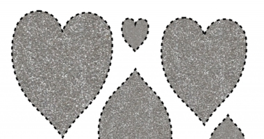 Glitter Hearts – range of sizes to cut out & order Valentine