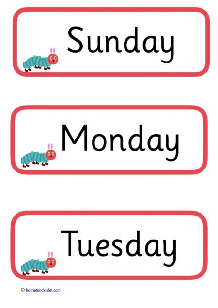 Common Worksheets u00bb Teaching Days Of The Week - Preschool and Kindergarten Worksheets