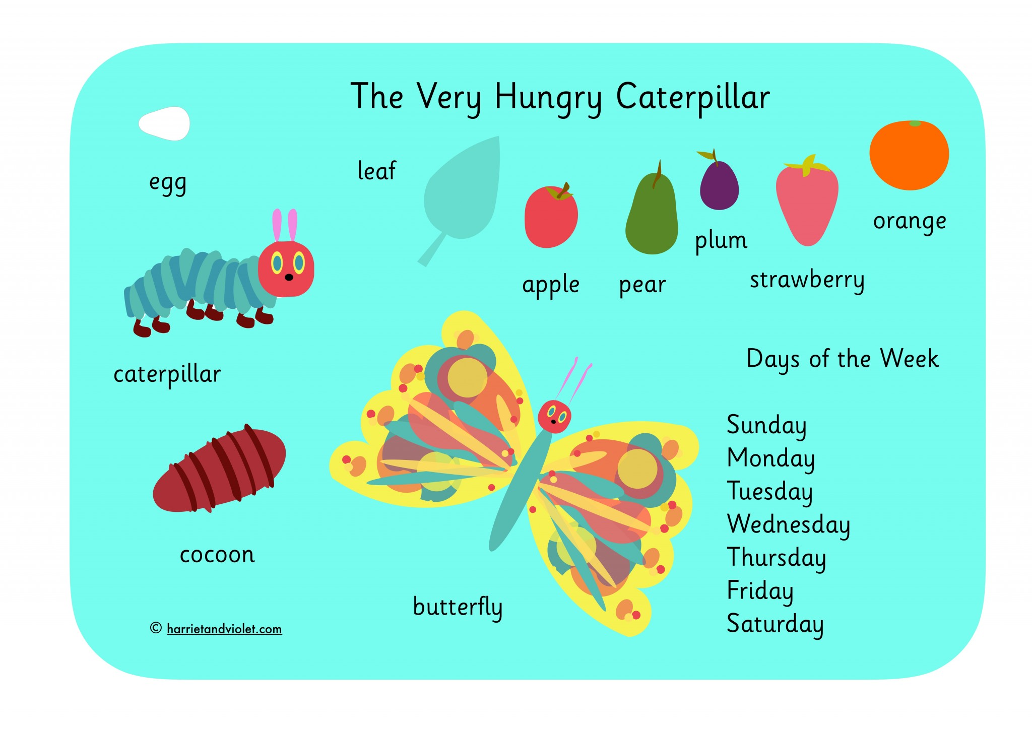 the very hungry caterpillar pdf free download