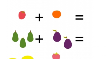 Fruits – picture number sentences within 10