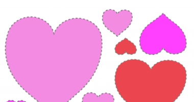 Valentine Hearts to cut out and order in size – pink