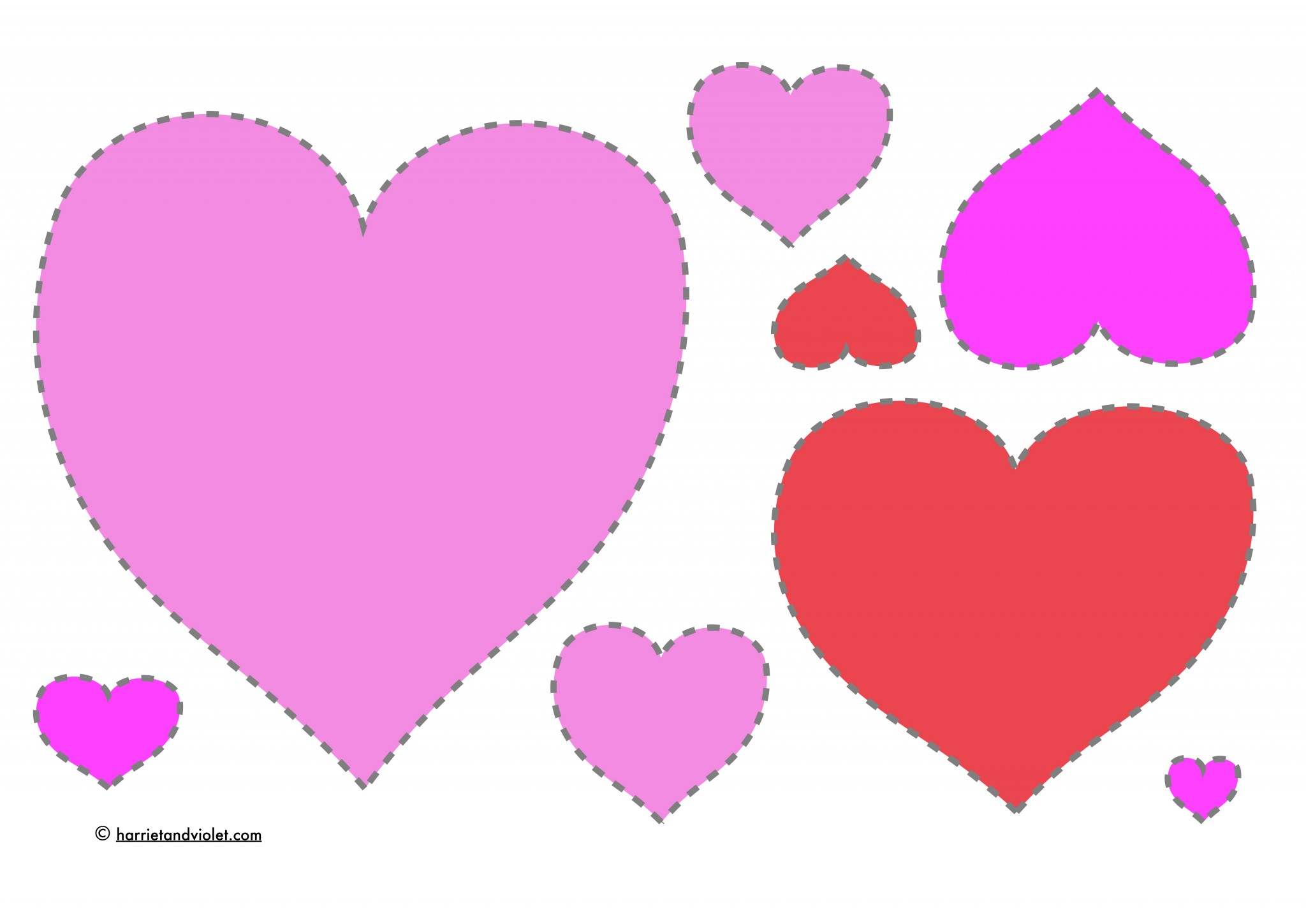 It is a graphic of Sassy Printable Red Hearts