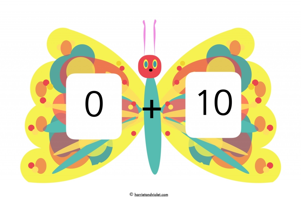 Beautiful Number Bonds To 10 Colouring Sheet Images