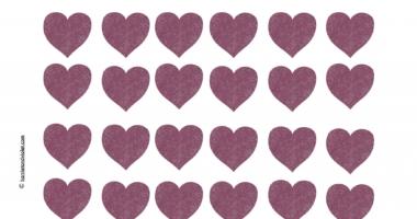 Small glitter hearts