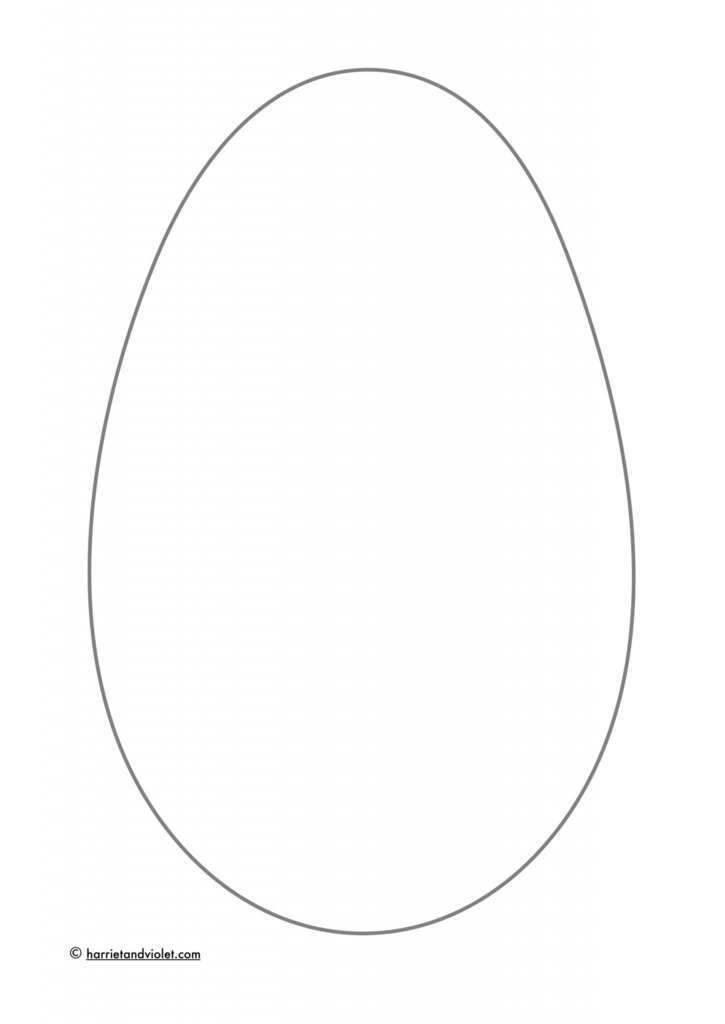 Blank easter egg colouring in or design sheet free teaching blank easter egg colouring in or design sheet pronofoot35fo Gallery