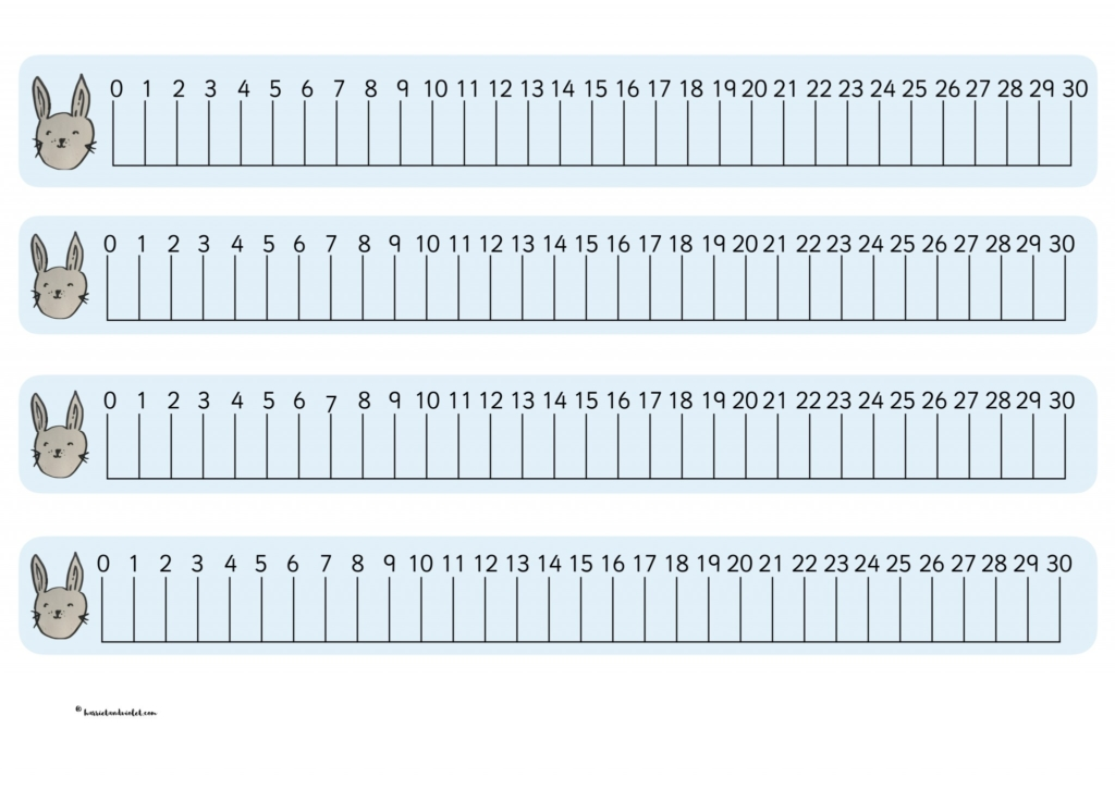 number line to 30 pdf