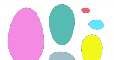 Easter eggs – cut out and put in size order