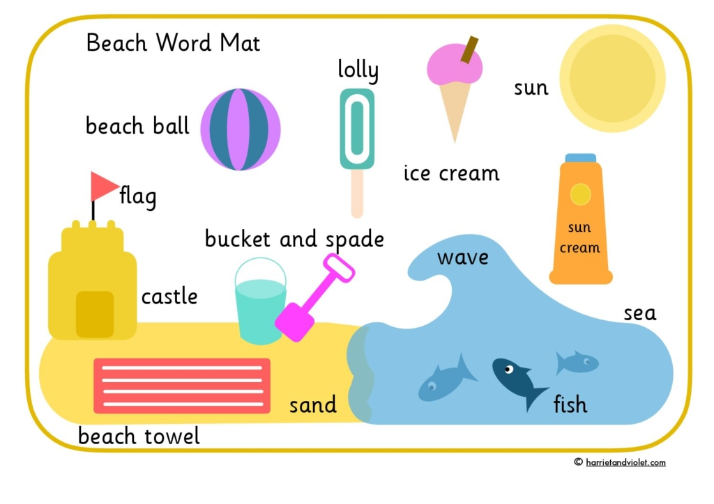Word banks word mats page 1 free teaching resources print premium beach or seaside word mat word bank spiritdancerdesigns Gallery