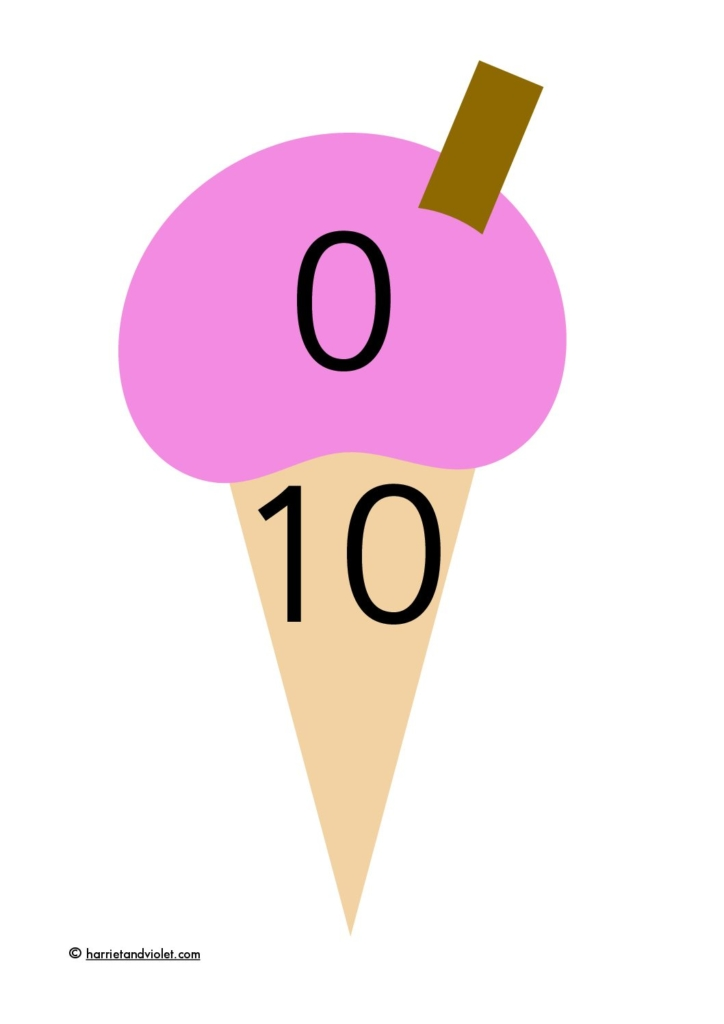 Ice cream number bonds to 10 - Free Teaching Resources - Print Play ...